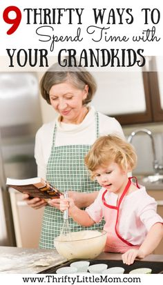 9 Thrifty Ways To Spend Time With Your Grandkids!  This post has lots of ideas for stuff to do with kids during the summer months.