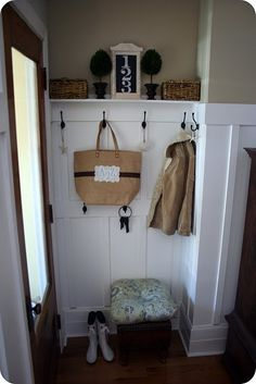 Small mudroom makeover