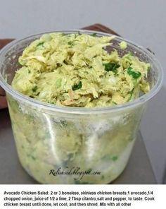 Low cal avocado chicken salad
