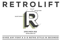 RetroLift | 3D Photoshop Action by RetroSupply Co. on @creativemarket