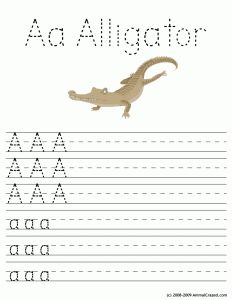 animal a 232x300 Free Printable Alphabet Worksheets: Letters Aa through Zz!!!!!