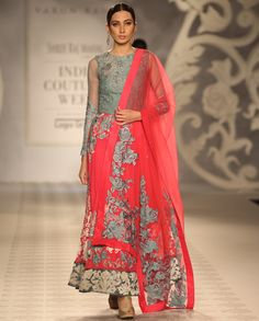 Embroidered Fuchsia Anarkali Suit