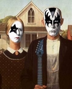 American Gothic, KISS-style.