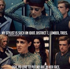 Johanna Mason. Personally, I liked this outfit a lot more than her interview dress.