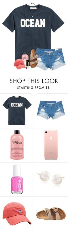 """Raining"" by ajgswim ❤ liked on Polyvore featuring H&M, rag & bone/JEAN, philosophy, Essie, Ross-Simons, Southern Tide and Birkenstock"