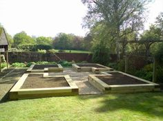 Raised Garden Layout Plans   Sleepers