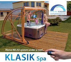 4th Jan 2011 / Get more use out of your Hot Tub with one of our new mobile Klasik Spa Enclosure Covers. The Idealcover Klasik Spa Enclosure from Europe's largest telescopic swimming pool and spa enclosure manufacturers offers customers a complete bathing and storage solution, all in one superb package at an affordable cost.