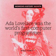 Ada Lovelace was the worlds first computer programmer. World's First Computer, Ada Lovelace, Women In History, Mobile Application, App Development, Brisbane, Digital Marketing, Budgeting, Web Design