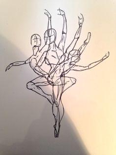 My #ink #ballerina #drawing #motion #abstract #portfolio #art #sharpie #dancing #dance