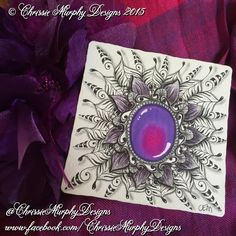 Here's a gorgeous purple gem, drawn on a genuine Zentangle tile using Unipin Fine Line and Pilot Ballpoint pens and Prismacolour Premier pencils. #artmafia #art_spotlight #ornamental #ornamentaldesign...