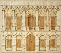 Design for a palace - by Andrea Palladio, circa 1540s