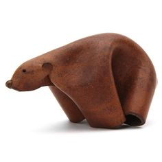 Leather Bear by Deru   From a unique collection of antique and modern animal sculptures at http://www.1stdibs.com/furniture/more-furniture-collectibles/animal-sculptures/