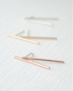 Simple Long Bar Earrings