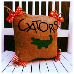 READY TO SHIP University of Florida Burlap by SouthernFCreations, $35.00