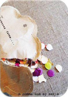 Carte de voeux - confettis