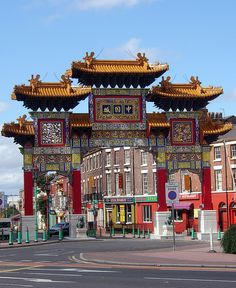 Gorgeous Liverpool Chinatown gate; walked by this every Sunday on the way to the cathedral! via Flickr by Pauho (Paul)
