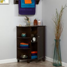 Free Shipping. Buy RiverRidge Ellsworth Floor Cabinet with Side Shelves, Espresso at Walmart.com
