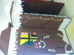 Holiday Gingerbread House Classroom Door in preschool and Pre-K