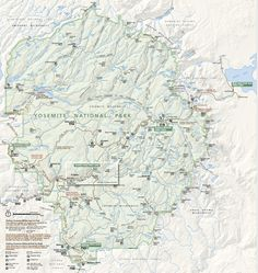 Visiting Yosemite & Things To Do Yosemite National Park Map | Just One Cookbook