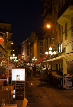 Nice, France - Restaurant Street