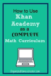 How to use Khan Academy as a free homeschool math curriculum. Khan Academy is great for homeschool students. Follow this step by step guide to set up the online program as a complete curriculum. It includes videos to teach new topics. #homeschool #math #khanacademy