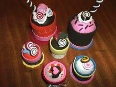 Minha Casinha Rosa: Cupcake de E.V.A