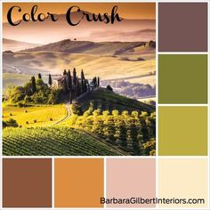 Tuscany Inspired Color Palette