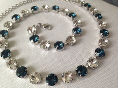 Any Two Colors: Swarovski Necklace (8 mm) by emilytrends on Etsy (sabika inspired)
