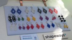 My newest jewelry on display at Mini Maker Faire Trieste 2015. Shop opening soon!