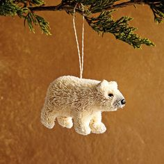 Bottle Brush Ornament - Polar Bear | west elm
