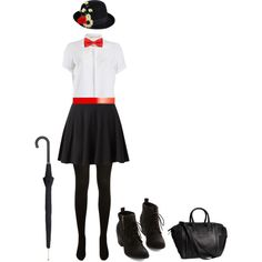 Created in the Polyvore Android app. http://www.polyvore.com/android  #marypoppins #halloween #costume