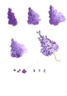 【绘画教程】油画紫藤花