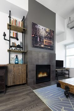 Relooking d'un petit loft à Toronto par Rad Design