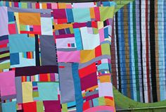 improv solids quilt top | This one's been kind of a puzzle t… | Flickr