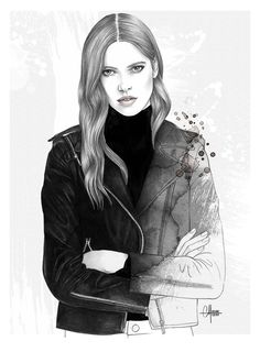 The girl in the perfect leather jacket