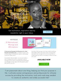 Best Photography Websites, Portfolio Website, Wordpress Theme, Tiffany, Affirmations, Motivation, Creative, Inspiration, Life