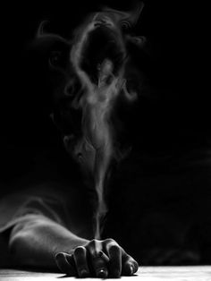 as she dances in fluent motion.her body pirots upon the opaque mist.created silouette of smoke and grace. Smoke Photography, Portrait Photography, Dark Fantasy, Fantasy Art, Rauch Fotografie, Smoke Art, Shades Of Black, Erotic Art, Dark Art