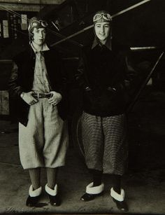 """January 7, 1906: Birth of Evelyn """"Bobbi"""" Trout (R), American early aviator, first Woman to set the first non-refueling endurance record for women."""