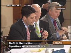 #PaulRyan with Obama at Healthcare Summit February 2012 - Hiding Spending Doesn't Reduce Spending