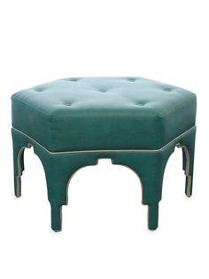 This ottoman should be in my house! Gilt Home has some gorgeous things