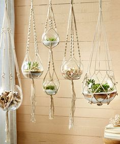 Hand Braided Macrame Plant Hangers-Candleholders