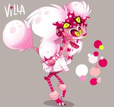 """(Updated version) Villa, a new character part of Vivienne's """"Hazbin Hotel"""" project."""