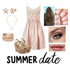 """""""Rose Gold Summer Date Night Outfit"""" by itsash86 ❤ liked on Polyvore featuring Miss Selfridge, UGG Australia, Michael Kors, Red Camel, summerdate and rooftopbar"""