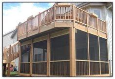 Screen porch under deck