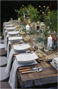 Rustic Garden Party, Rustic Gardens, Garden Table, Outdoor Parties, Outdoor Weddings, Romantic Weddings, Rustic Weddings, Indian Weddings, Country Weddings