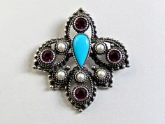 SALE Sarah Coventry Imperial Brooch Pendant by vintagepaige, $12.00