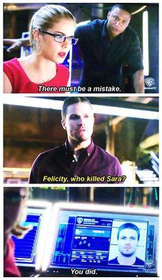 Arrow - Oliver and Felicity #3.9 #Season3 #Olicity