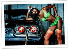 Naomi Campbell Agent Provocateur photographed by Ellen Von Unwerth
