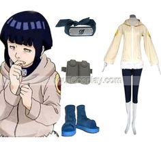 Naruto Hinata Hyuga Deluxe Women's Cosplay Costume and Accessori, Naruto Cosplay Costumes, Cosplay Costumes