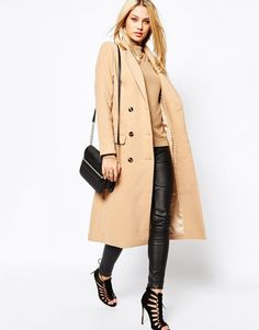 Missguided | Missguided Premium Double Breasted Tailored Long Coat at ASOS